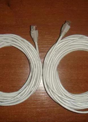 Патч-корд RJ45 cat5e (15м.) для интернета LAN Сетевой кабель.