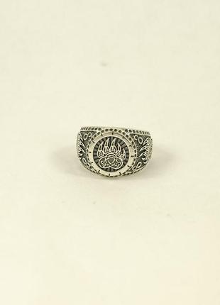 Кольцо оберег велеса из серебра