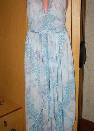 Шикарное платье со шлейфом, 12 р., ид. сост.