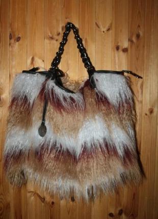 Крутая  меховая сумка, alex max оригинал, ид. сост.