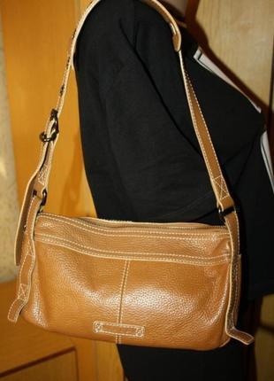 Стильная брендовая сумка, нат. кожа, ид. сост.
