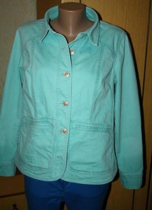 Бирюзовая джинсовая куртка, пиджак турция,20 р