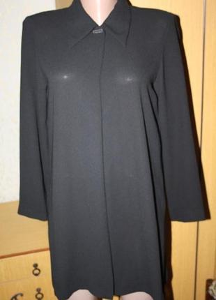 Стильный черный кардиган накидка  разрезы, м-л