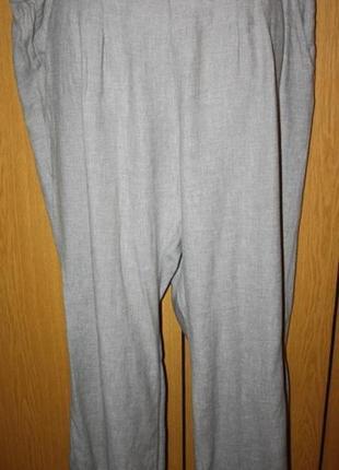 Легкие брюки штаныв стиле кэжуал лен+коттон, 22 р.