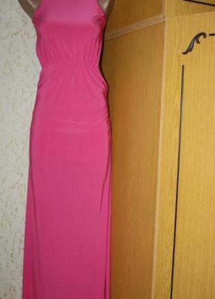 Шикарное розовое платье, трикотаж масло, м