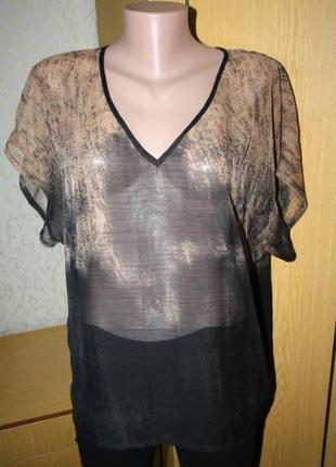 Легкая шифоновая блуза, с\м