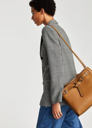 Кожаная сумка от zara