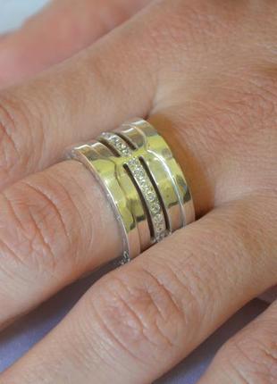 Брендовое кольцо из серебра - ручная работа