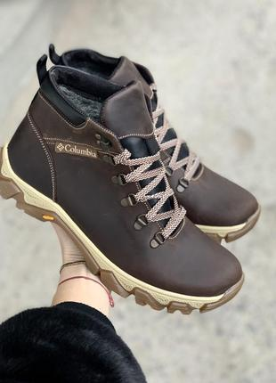 Мужские  ботинки {натуральная кожа}