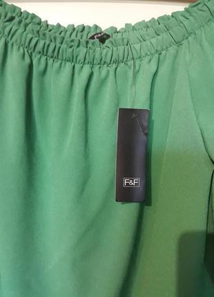 Блузка f&f открытые плечи