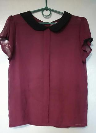Блузка марсала