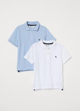 Набір футболок поло h&m розм. 4-6 р., 6-8 р. і 8-10 р.