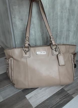 Брендовая кожаная сумка coach. не дорого!