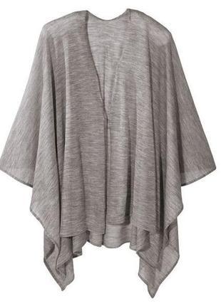 Легкая вязаная накидка -шаль esmara