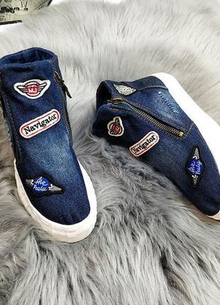 Распродажа джинсовых слипонов