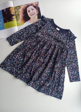 Сукня котонова next 3-4 р.в квітковий принт