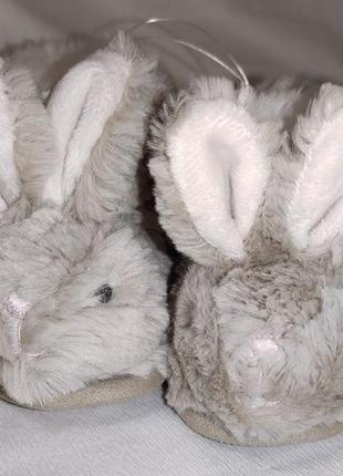 Пинетки тапки детские меховые зайчики кролики the white company