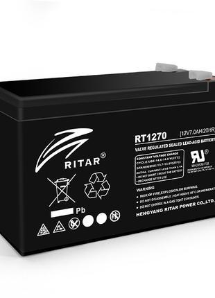 Аккумуляторная батарея AGM RITAR RT1270A, Black Case, 12V 7.0A...