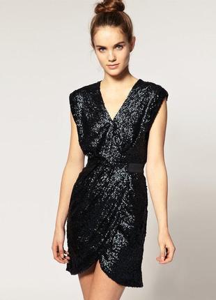 Платье вечернее в пайетки warehouse размер 10/12
