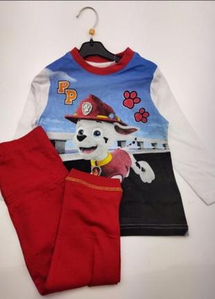 Детская пижама на мальчика щенячий патруль disney