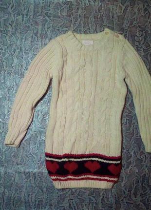 Удлиненный свитерок, платье.