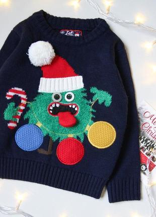 Новогодний светящийся  свитер от f&f