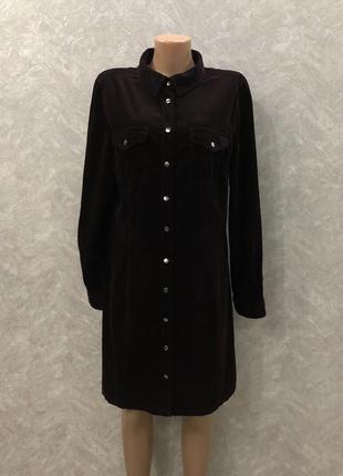 Платье рубашка из тонкого микровельвета