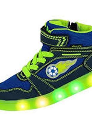 Кроссовки высокие lico с подсветкой