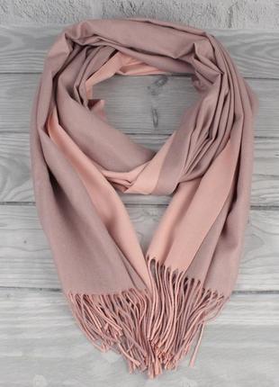 Двусторонний кашемировый шарф, палантин cashmere 7280-16 пудра...