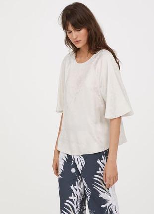 Атласная блуза реглан,рубаха,кофточка,anna glover x h&m