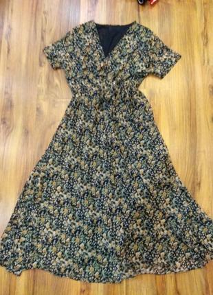 Платье, шифоновое платье, макси платье, платье миди