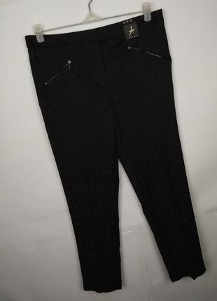 Штаны брюки новые стильные в гобеленовый принт uk 12/40/m