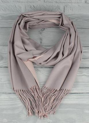 Двусторонний кашемировый шарф, палантин cashmere 7280-17 светл...