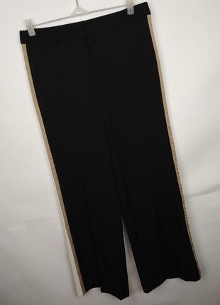 Штаны брюки стильные с лампасами uk 12/40/m
