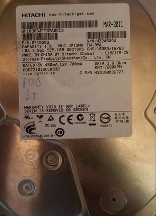 Жёсткий диск на 1ТБ