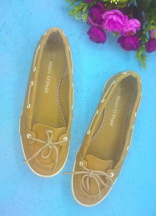 Лёгенькие туфли мокасины marc o'polo р 37 цвет кэмел