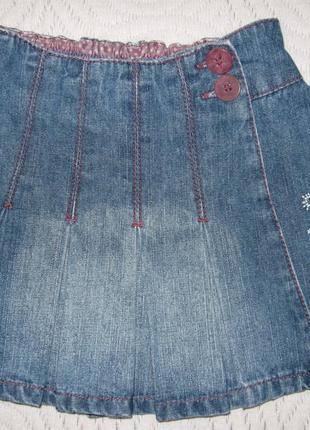 Джинсова юбка mini mode на 1-1,5 роки