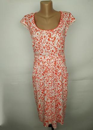 Платье трикотажное красивое в орнамент пейсли boden uk 10/38/s