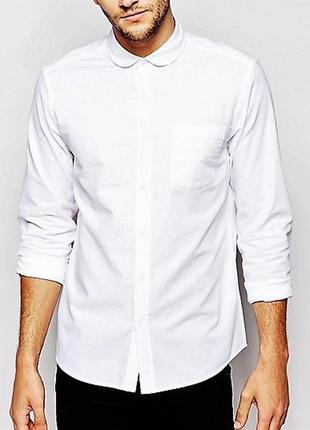 Білосніжна сорочка оксфорд asos,p.m