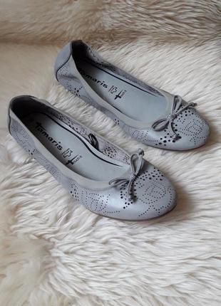Туфельки балетки  с перфорацией tamaris 39 размер