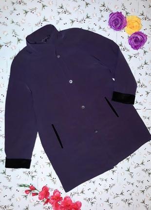 🎁1+1=3 стильное фирменное фиолетовое длинное пальто, размер 50...