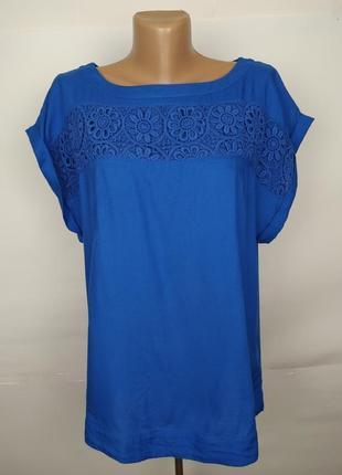 Блуза натуральная привлекательная штапель кружево monsooon uk ...