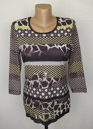 Блуза кофточка стильная оригинальная в принт gerry weber uk 8/...