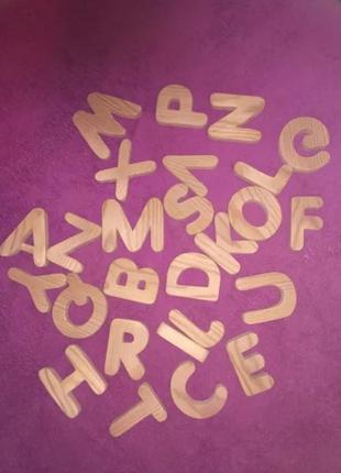 Детский деревянный алфавит азбука буквы