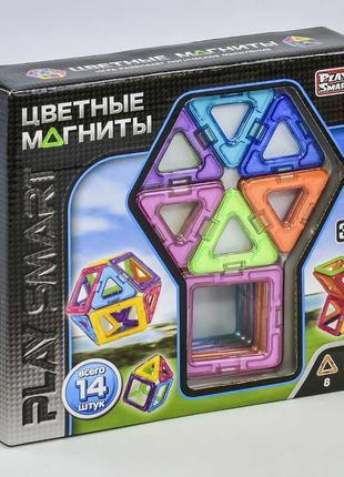 """Конструктор магнитный 2425 """"Play Smart"""" 14 деталей 6 моделей"""