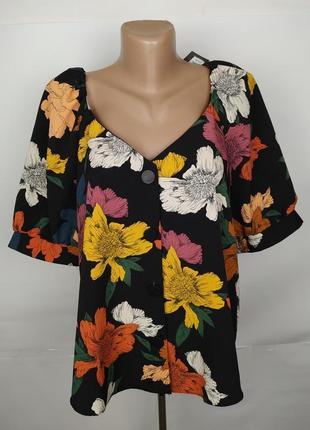 Блуза новая красивенная в цветы primark uk 14/42/l
