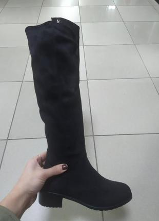 Женские зимние сапожки по колено