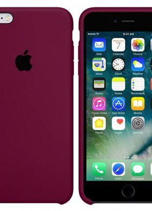 Чехол Silicone case для iPhone 6/6S Marsala