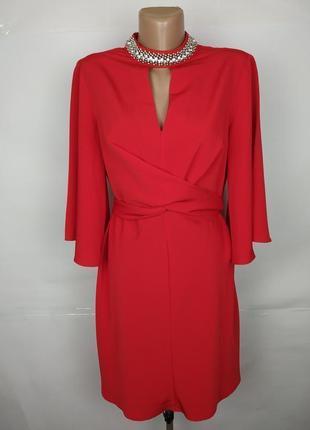 Платье красное шикарное papaya uk 12/40/m