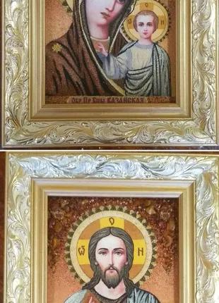 Венчальные иконы из янтаря